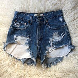 Levi's 550 Cutoff Distressed Jean Shorts 29